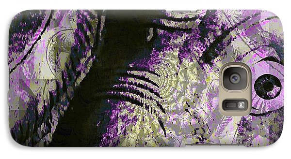 Galaxy Case featuring the digital art Purple Elephant by Fania Simon