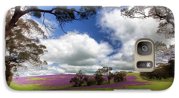 Galaxy Case featuring the photograph Purple Fields by Douglas Barnard
