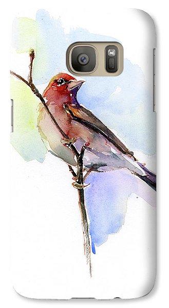 Purple Finch Galaxy S7 Case