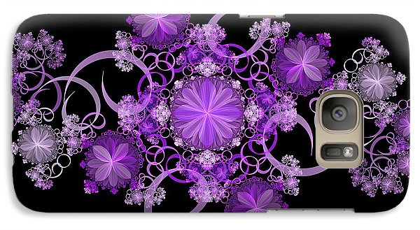Galaxy Case featuring the photograph Purple Floral Celebration by Sandy Keeton