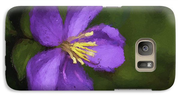 Galaxy Case featuring the photograph Purple Flower Macro Impression by Dan McManus