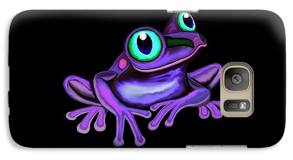 Galaxy Case featuring the painting Purple Frog  by Nick Gustafson