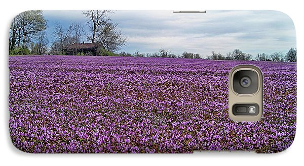 Galaxy Case featuring the photograph Purple Haze by Cricket Hackmann