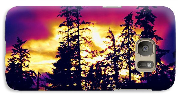 Galaxy Case featuring the photograph Purple Haze Forest by Nick Gustafson