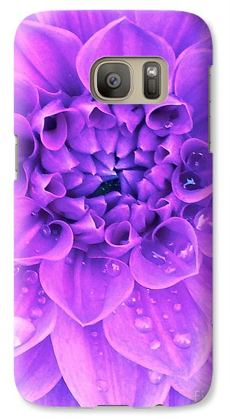 Galaxy Case featuring the photograph Purple Too by Cathy Dee Janes