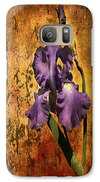 Purple Iris At Sunset Galaxy S7 Case