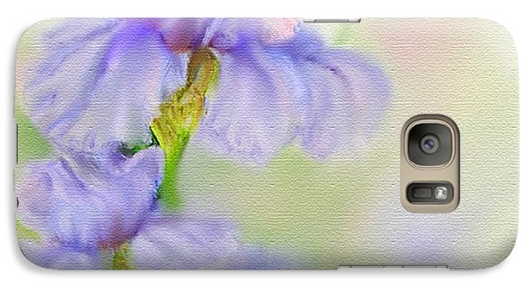 Galaxy Case featuring the painting Purple Iris by Bonnie Willis