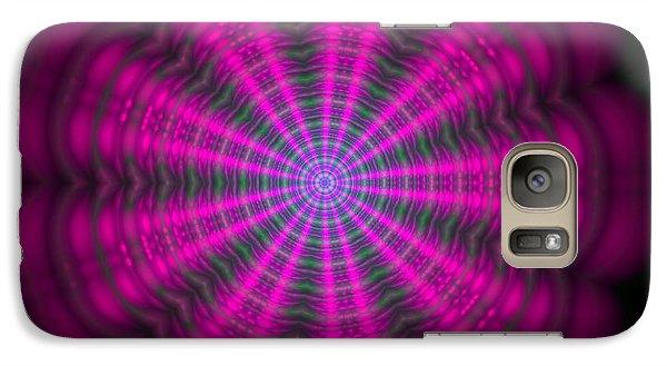 Galaxy Case featuring the digital art Purple Lightmandala Ripples by Robert Thalmeier