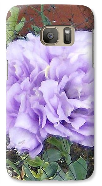 Galaxy Case featuring the photograph Purple Lisianthus by Skyler Tipton
