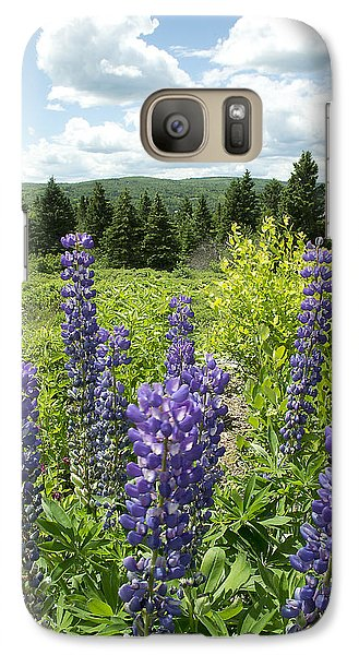 Galaxy Case featuring the photograph Purple Lupines by Paul Miller