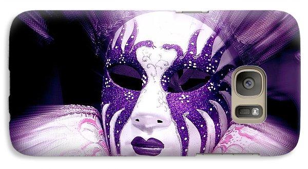Galaxy Case featuring the photograph Purple Mask Flash by Amanda Eberly-Kudamik