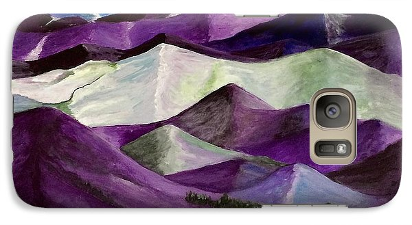 Galaxy Case featuring the painting Purple Mountains Majesty by Kim Nelson