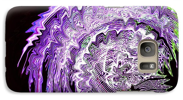 Galaxy Case featuring the photograph Purple Mushroom by Linda Constant