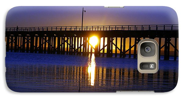 Galaxy Case featuring the photograph Purple Ocean Sunrise by Gary Crockett