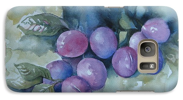 Galaxy Case featuring the painting Purple Plums by Elena Oleniuc