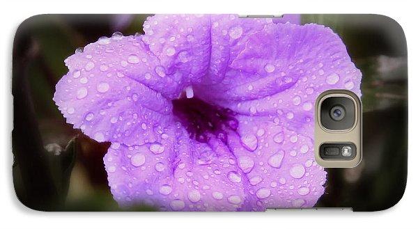 Galaxy Case featuring the photograph Purple Rain by Joseph G Holland