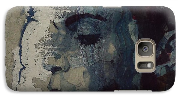 Galaxy Case featuring the mixed media Purple Rain - Prince by Paul Lovering
