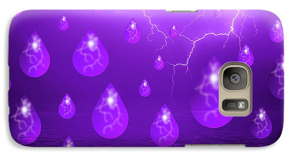 Galaxy Case featuring the photograph Purple Rain by Shane Bechler