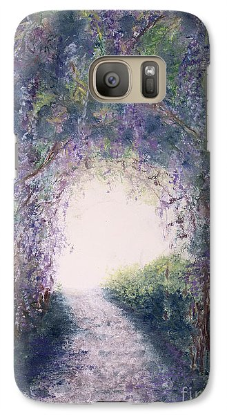 Galaxy Case featuring the painting Purple Rain by Stanza Widen