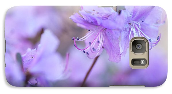 Galaxy Case featuring the photograph Purple Rhododendron 1. Spring Watercolors by Jenny Rainbow