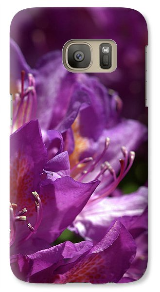 Galaxy Case featuring the photograph Purple Rhododendron by Baggieoldboy