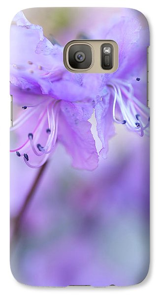 Galaxy Case featuring the photograph Purple Rhododendron. Spring Watercolors by Jenny Rainbow