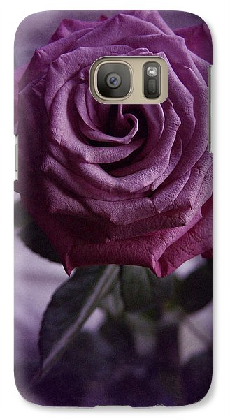 Galaxy Case featuring the photograph Purple Rose Of December by Richard Cummings
