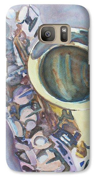 Saxophone Galaxy S7 Case - Purple Sax by Jenny Armitage