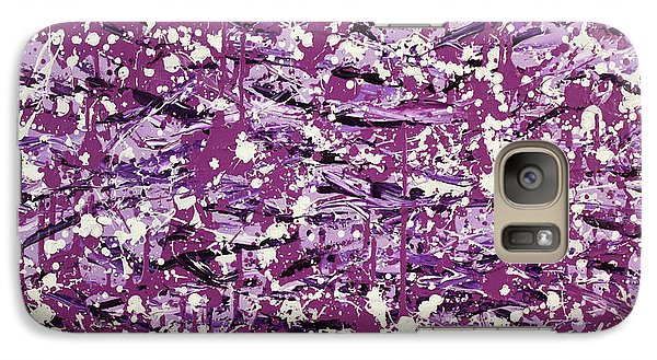 Galaxy Case featuring the painting Purple Splatter by Thomas Blood