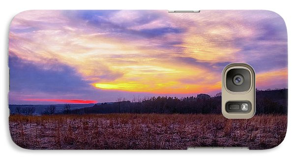 Galaxy Case featuring the photograph Purple Sunset At Retzer Nature Center by Jennifer Rondinelli Reilly - Fine Art Photography