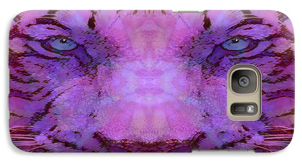 Galaxy Case featuring the photograph Purple Tiger by Barbara Tristan