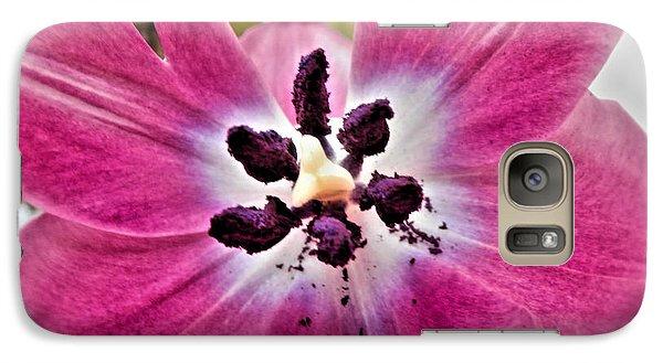 Galaxy Case featuring the photograph Purple Tulip by Nina Ficur Feenan