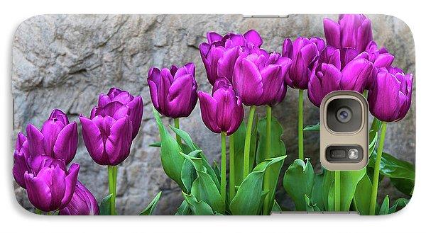 Tulip Galaxy S7 Case - Purple Tulips by Tom Mc Nemar