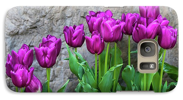 Galaxy Case featuring the photograph Purple Tulips by Tom Mc Nemar