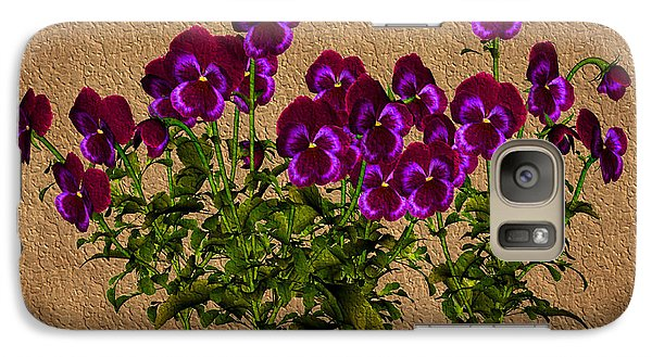 Galaxy Case featuring the digital art Purple Violets by Smilin Eyes  Treasures