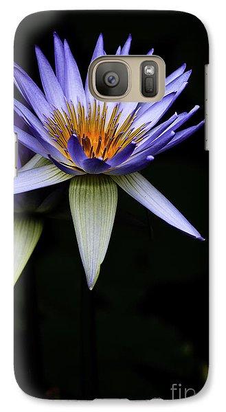 Purple Waterlily Galaxy S7 Case by Avalon Fine Art Photography