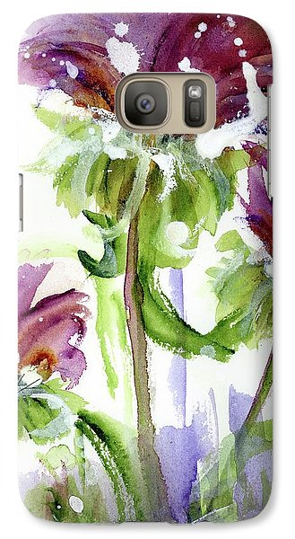 Galaxy Case featuring the painting Purple Wildflowers by Dawn Derman