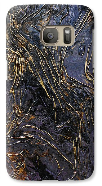 Galaxy Case featuring the mixed media Purple With Texture by Angela Stout
