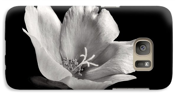 Galaxy Case featuring the photograph Purslane In Monochrome by David and Carol Kelly