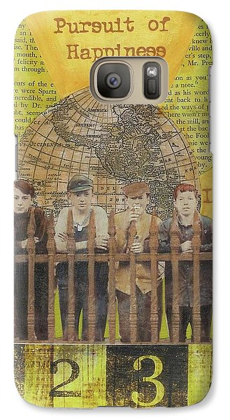 Galaxy Case featuring the mixed media Pursuit Of Happiness by Desiree Paquette