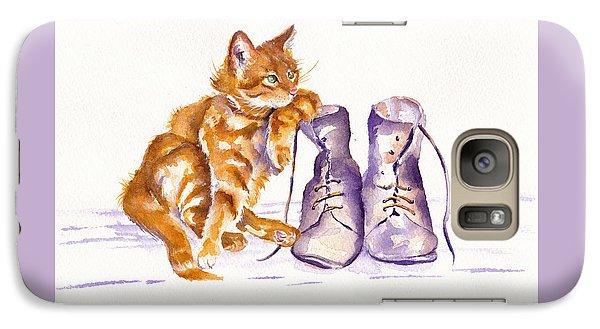 Cat Galaxy S7 Case - Puss 'n Boots by Debra Hall