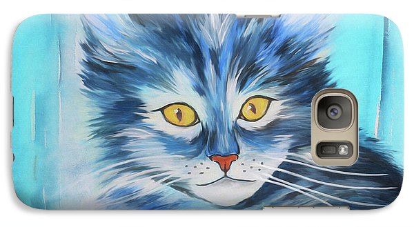 Galaxy Case featuring the painting Pussy Cat by Jutta Maria Pusl