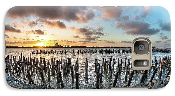 Galaxy Case featuring the photograph Pylons Mill Sunset by Greg Nyquist