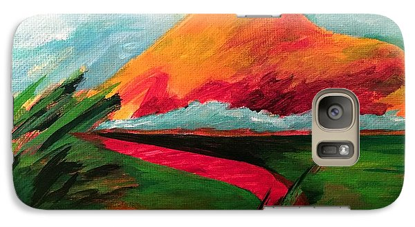 Galaxy Case featuring the painting Pyramid Mountain by Elizabeth Fontaine-Barr