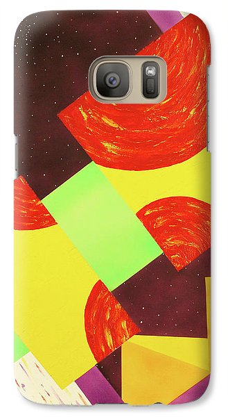 Galaxy Case featuring the painting Pyramids And Pepperoni by Thomas Blood