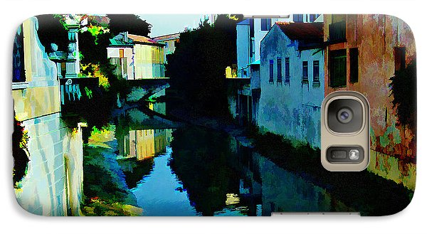 Galaxy Case featuring the photograph Quaint On The Canal by Roberta Byram