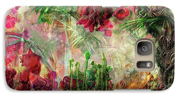 Galaxy Case featuring the digital art Qualia's Jungle by Russell Kightley