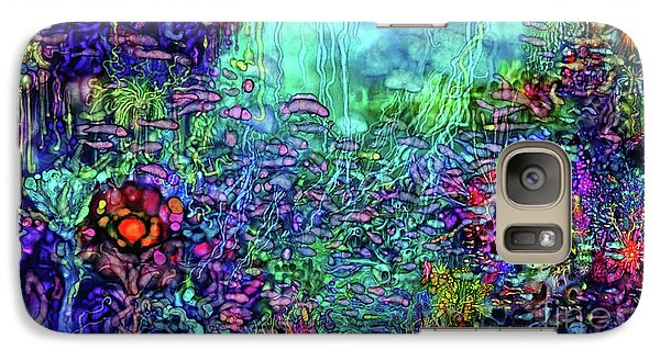Galaxy Case featuring the digital art Qualia's Reef by Russell Kightley