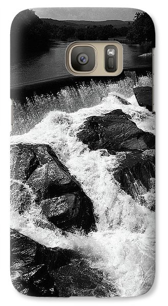 Galaxy Case featuring the photograph Quechee, Vermont - Falls 2 Bw by Frank Romeo