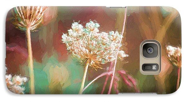 Galaxy Case featuring the digital art Queen Anne Impasto by Bonnie Bruno